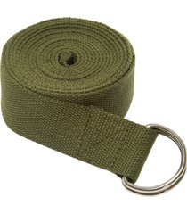 everyday yoga 8 foot strap d-ring dark olive cotton/polyester