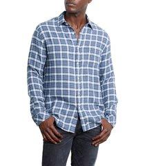 men's rails lennox regular fit plaid button-up shirt, size xx-large - blue