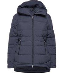 stranda down hybrid w jkt outerwear sport jackets blauw bergans