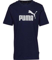 ess logo tee t-shirts short-sleeved blå puma