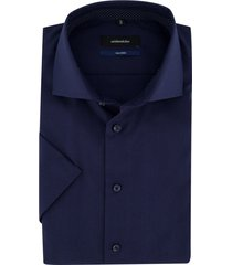 overhemd seidensticker korte mouw donkerblauw