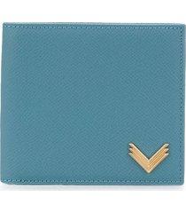 manokhi leather wallet - blue