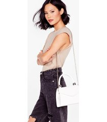 womens want handle the situation crossbody bag - white