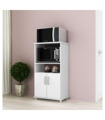 armário gabinete p/ forno e micro-ondas 2 portas djd bf252 branco