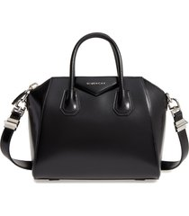 givenchy small antigona box leather satchel - black
