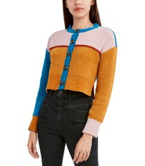 bcbgeneration colorblock button-front cardigan