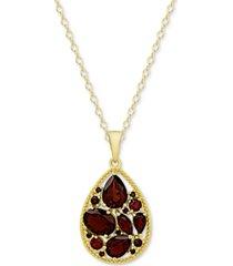 cluster teardrop pendant necklace (3-3/8 ct. t.w.) in sterling silver