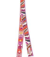 emilio pucci geometric print silk twill scarf - purple