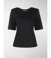 max mara chevron-panel t-shirt