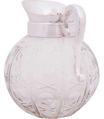jarra decorativa de vidro com banho de prata anfe
