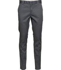 slim fit work pant chinos byxor grå dickies