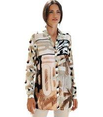 blouse amy vermont beige::zwart::ecru