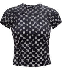 'reflective monogram' short-sleeved top