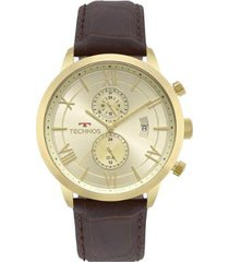 relógio technos classic grandtech jp11ad/4x 48mm couro masculino