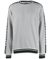 dolce & gabbana side panelled logo sweatshirt - grey