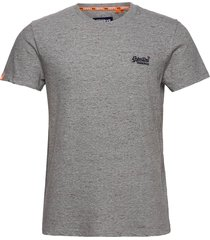 ol vintage embroidery tee t-shirts short-sleeved grå superdry