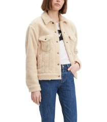 levi's women's cotton fleece trucker jacket