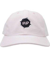 boné flip skateboards dad hat aba curva splash logo rosa