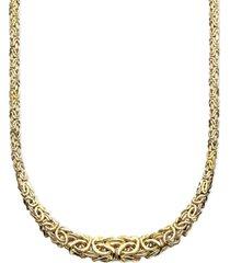 "italian gold 17"" byzantine necklace in 14k gold"