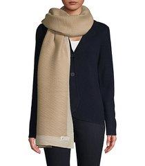tonal border scarf