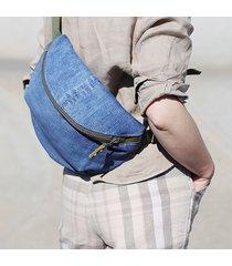 duża nerka blue dżins