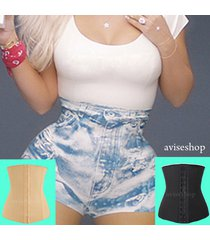 underbust steel boned corset waist trainer cincher body shaper workout a#1