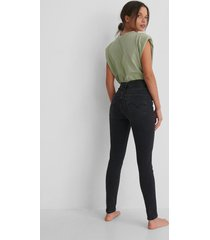 levi's skinny jeans med superhög midja - black