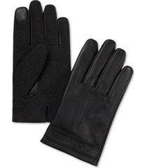 calvin klein men's melton mixed-media touchscreen gloves