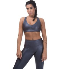 top  esportivo  cirre miss blessed premium cinza - kanui