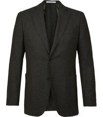 profuomo jacket woven hopsack army