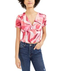 bar iii printed smocked top, created for macy's
