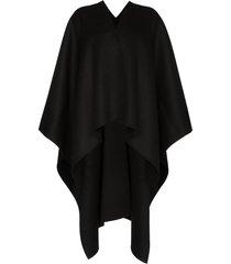 joseph dip-hem wrap poncho - black