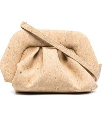 themoirè gea cork clutch bag - neutrals