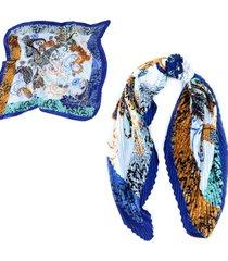 pañuelo azul almacén de paris