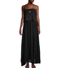 tiare hawaii women's francoise maxi dress - black