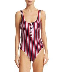 sandra one-piece striped swimsuit