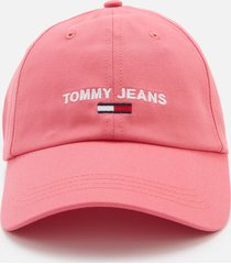 tommy jeans women's sport cap - glamour pink
