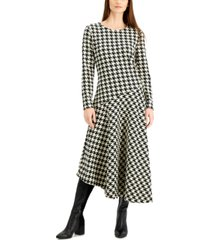 alfani printed asymmetrical midi dress, created for macy's