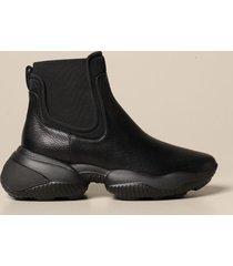 hogan flat booties interaction chelsea hogan sneakers in leather
