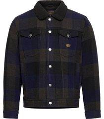 highwayman wool sherpa trucker ulljacka jacka multi/mönstrad superdry