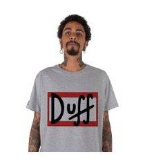 camiseta   stoned duff cinza