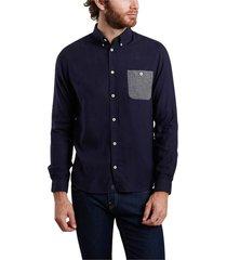 kolin organic oxford cotton and lyocell shirt with pocket