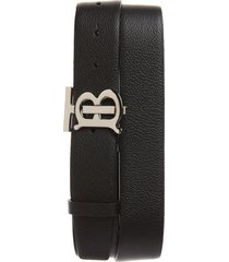 men's burberry tb monogram leather belt