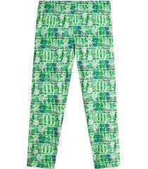 leggings sport estampado verde color verde, talla xs
