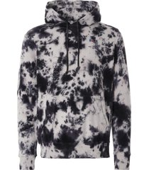 russell athletic tie-dyed river hoodie | black | e06372-blk