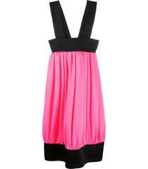 comme des garçons suspender-strap pleated skirt - pink