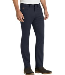 joseph abboud navy diamond weave casual pants