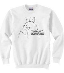 studio ghibli totoro   crewneck sweatshirt   white