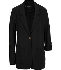 blazer lungo in felpa maite kelly (nero) - bpc bonprix collection