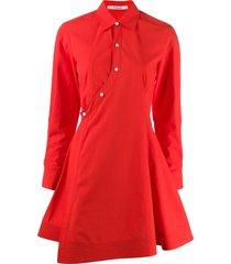 derek lam 10 crosby poplin short dress - red
